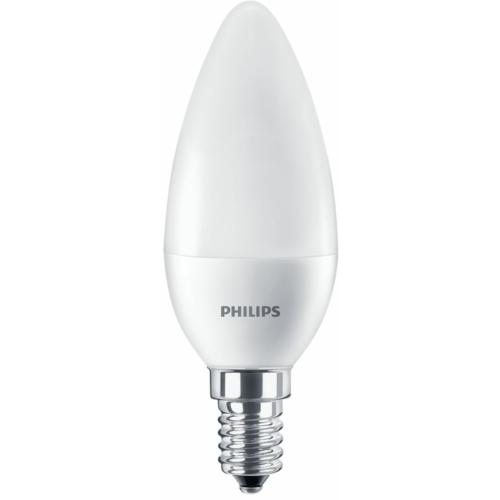 Philips LED izzó 7W, nappali fehér, E14, 830lm,  4000K
