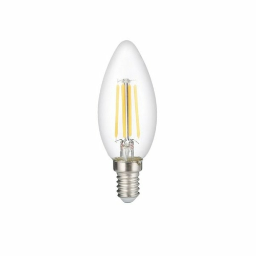 Optonica LED Filament izzó 6W, E14, nappali fehér, 730lm, 4500K