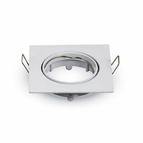 Optonica spotlámpa, GU10/MR16, állítható, fehér, szögletes