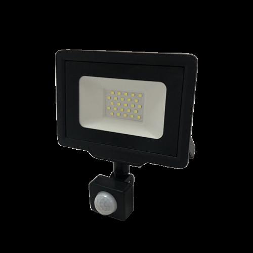 Optonica LED Reflektor 20W, Mozgásérzékelő, nappali fehér, 1600lm, 4500K, IP65