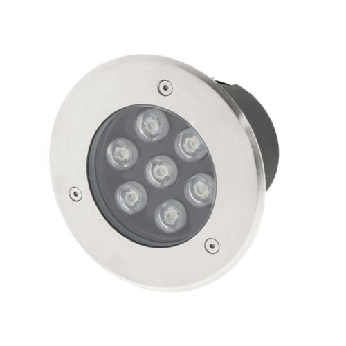 Optonica talajba építhető LED világítás, 540lm, 7W, meleg fehér, 2700K, IP65