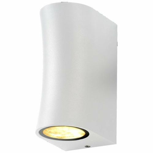 Optonica LED kültéri fali lámpa, IP44, fehér, 2xGU10