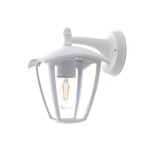 Optonica fali lámpa, kültéri, fehér, E27, IP44