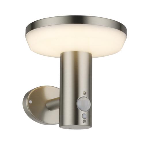 Optonica LED napelemes fali lámpa 4,4W, 600lm, mozgásérzékelővel, 3000K, IP44