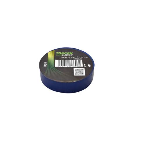 Tracon szigetelőszalag, 20m x 18mm, kék